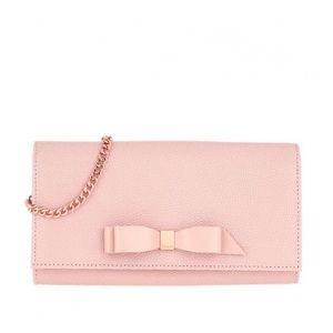 SALE Alaine Bow crossbody leather matinee bag
